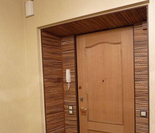 Как сделать откосы входной двери из мдф0