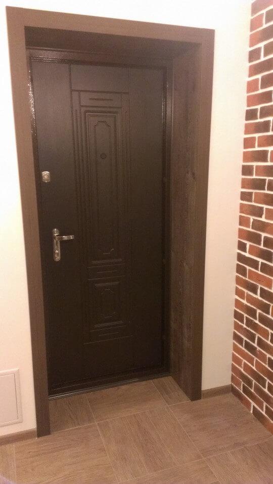 Как сделать откосы входной двери из мдф1