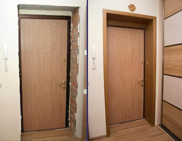 Как сделать откосы входной двери из мдф2