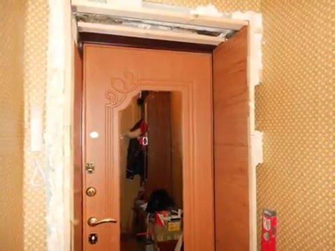 Как сделать откосы входной двери из мдф3