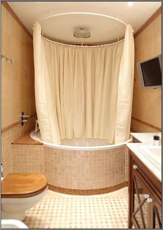 Как сделать шторку для ванной своими руками6