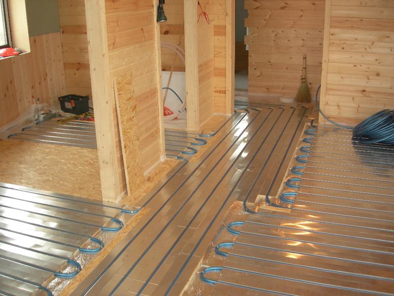 Как сделать теплый пол в частном доме на деревянный пол0