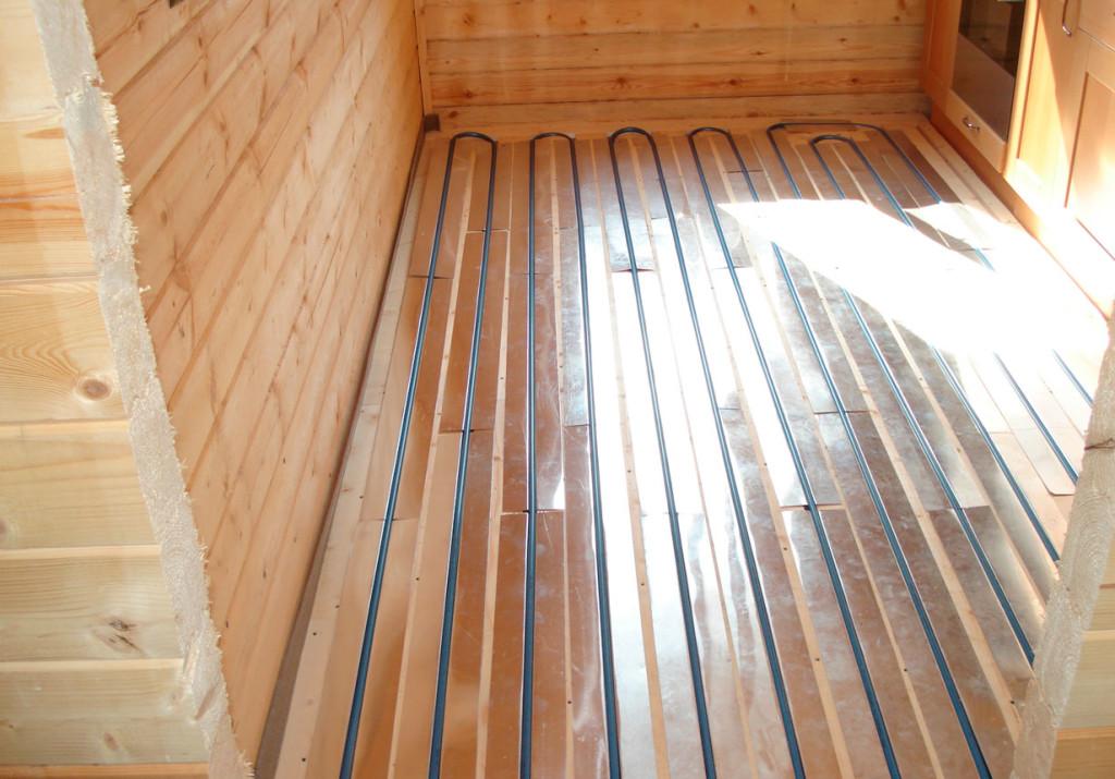 Как сделать теплый пол в частном доме на деревянный пол4