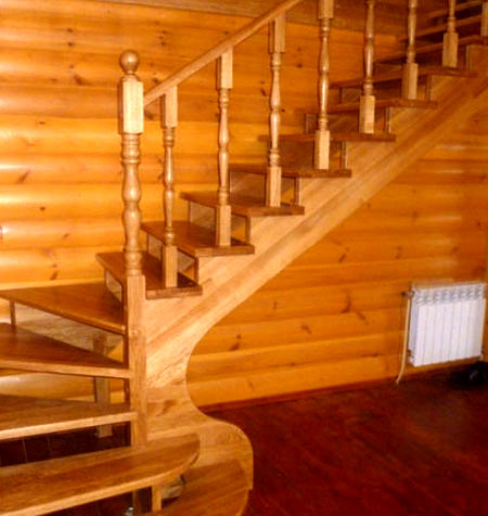 Как установить балясины и столбы на лестницу1