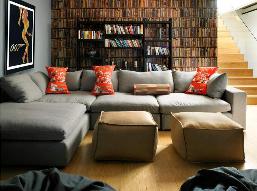 Как в интерьере разместить угловой диван?4