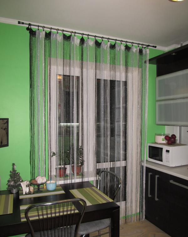 Как выглядят нитяные шторы в интерьере4