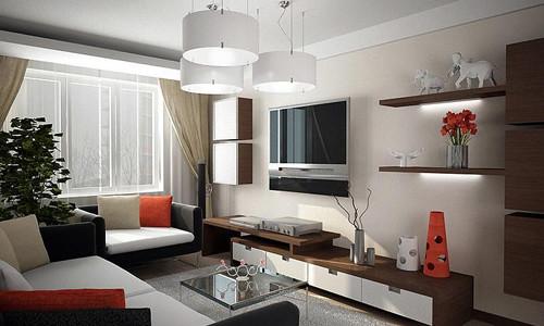 Как выполнить дизайн зала в панельном доме?0