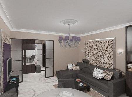Как выполнить дизайн зала в панельном доме?2
