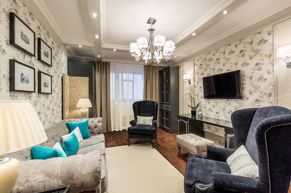 Как выполнить дизайн зала в панельном доме?3