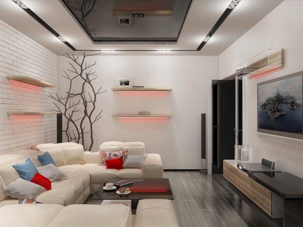 Как выполнить дизайн зала в панельном доме?4