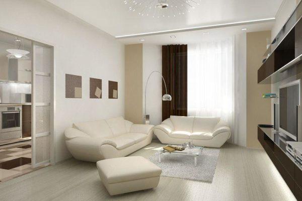 Как выполнить дизайн зала в панельном доме?5