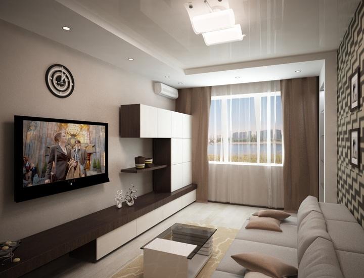 Как выполнить дизайн зала в панельном доме?6