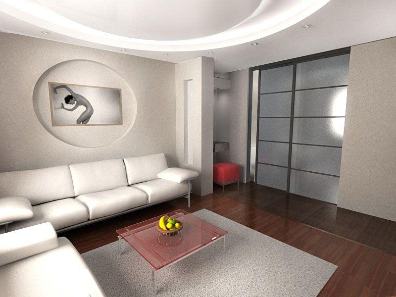 Как выполнить дизайн зала в панельном доме?7