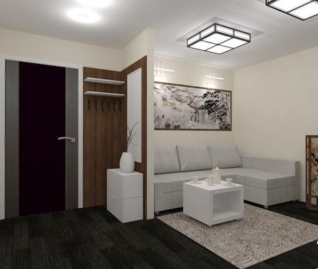 Как выполнить зонирование прихожей и гостиной: приемы работы5