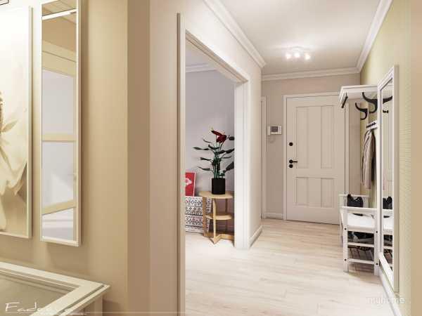 Как выполнить зонирование прихожей и гостиной: приемы работы9