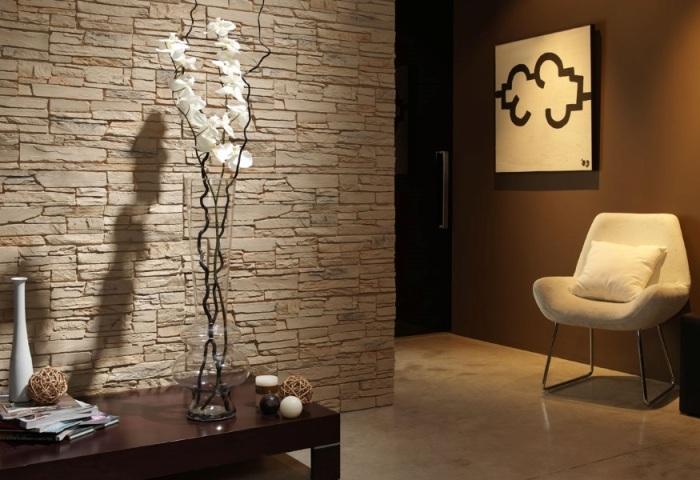 Каменные обои в интерьере, особенности создания оригинального дизайна0