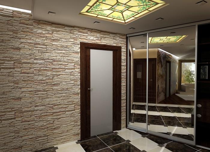 Каменные обои в интерьере, особенности создания оригинального дизайна3
