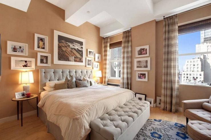 Картины в интерьере спальни2