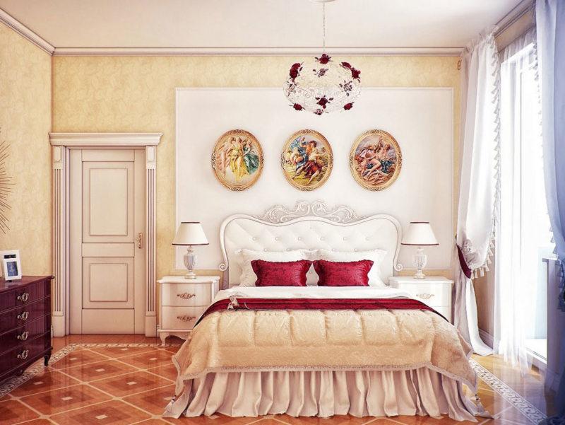 Картины в интерьере спальни3