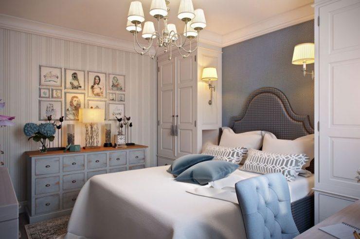 Картины в интерьере спальни5