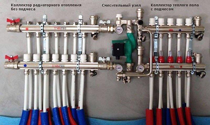 Коллекторная группа для теплого пола со смесительным узлом3