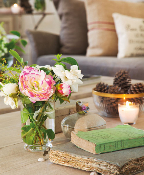Красивая гостиная комната с налетом винтажности (дизайнер isabel flores)4