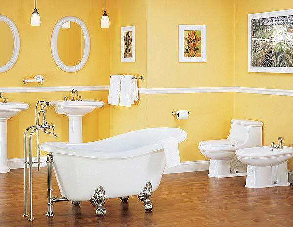 Красивая и элегантная ванна на ножках4