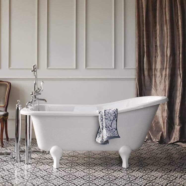 Красивая и элегантная ванна на ножках6