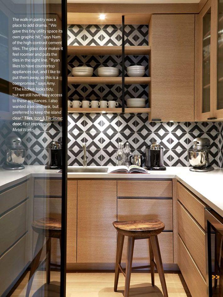 Красивая плитка с геометрическими узорами для кухонного фартука4