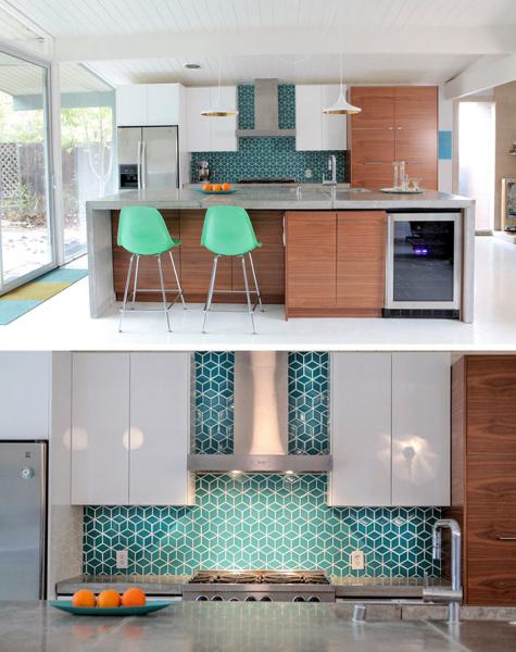 Красивая плитка с геометрическими узорами для кухонного фартука6