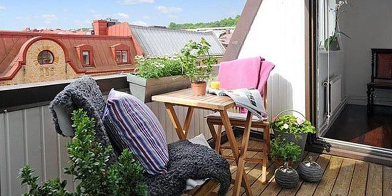 Красивый балкон — место для отдыха в современных квартирах3
