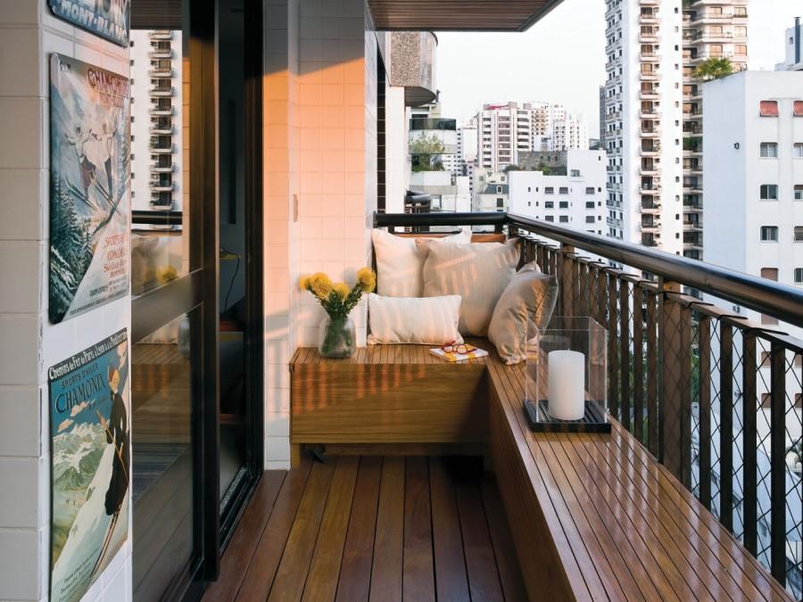 Красивый балкон — место для отдыха в современных квартирах7