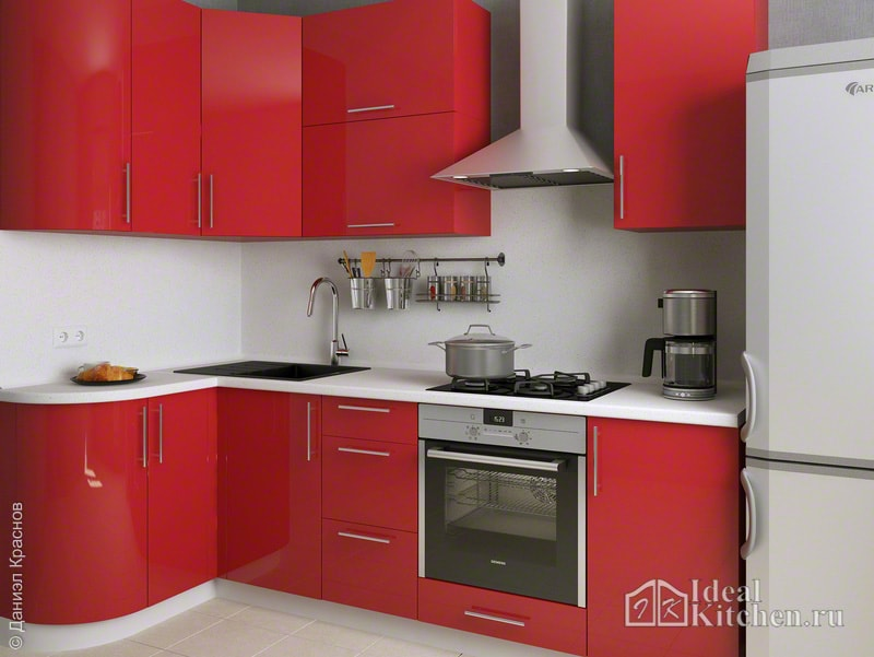 Красные кухни1