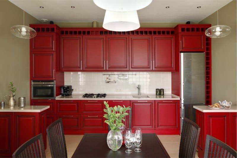 Красные кухни2