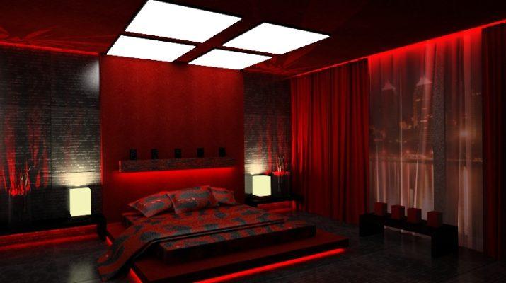 Красный цвет в спальне8