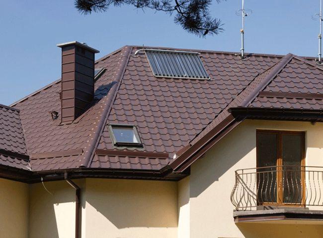 Крыша из металлочерепицы3