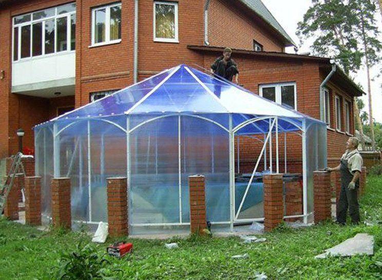 Крыша из поликарбоната. как покрыть крышу поликарбонатом?4