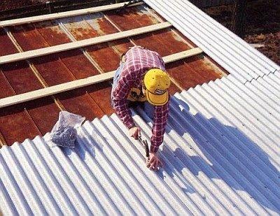 Крыша из шифера. укладка шифера0