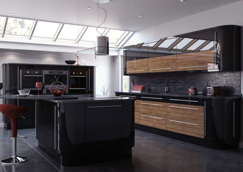 Кухни черного цвета2