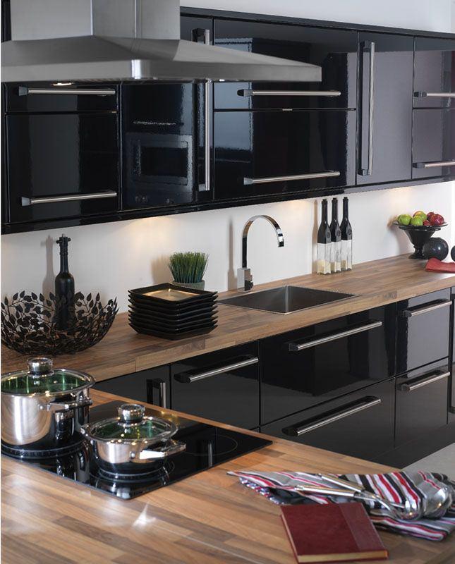Кухни черного цвета3