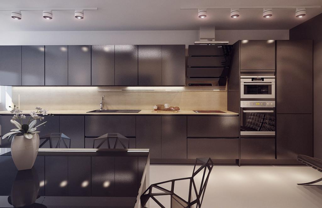 Кухни черного цвета5