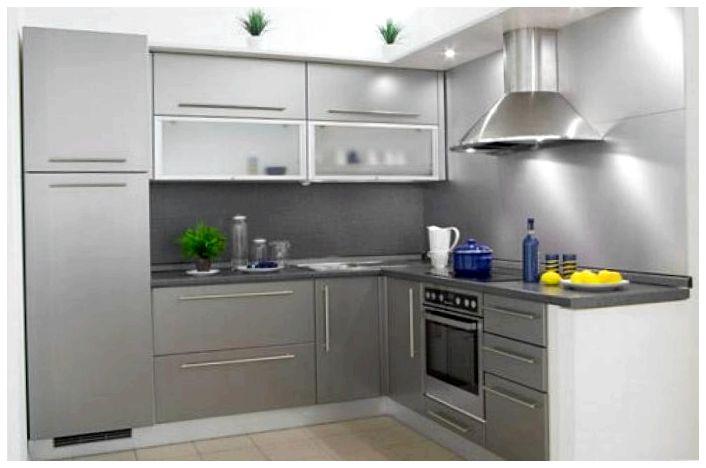 Кухни в стальном стиле0