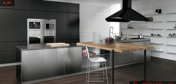 Кухни в стальном стиле1