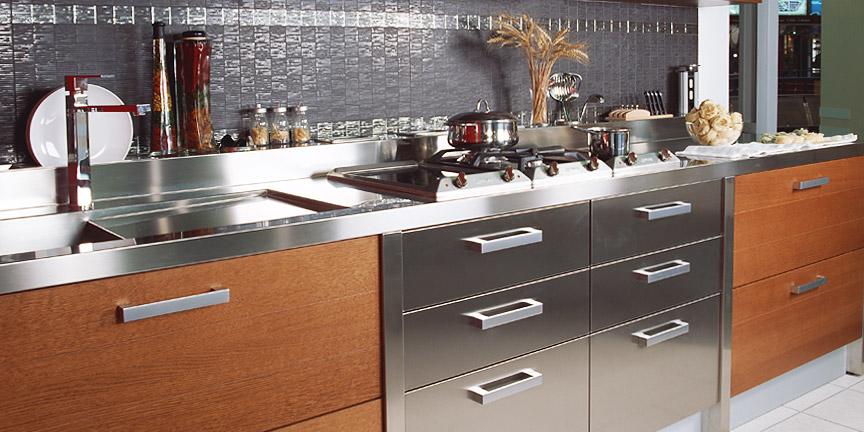 Кухни в стальном стиле3