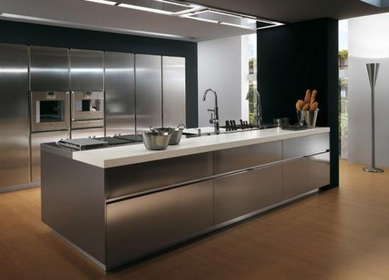 Кухни в стальном стиле5