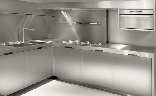 Кухни в стальном стиле7