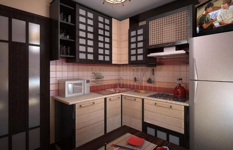 Кухни в японском стиле4