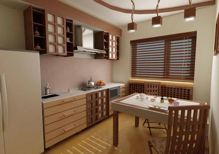 Кухни в японском стиле5
