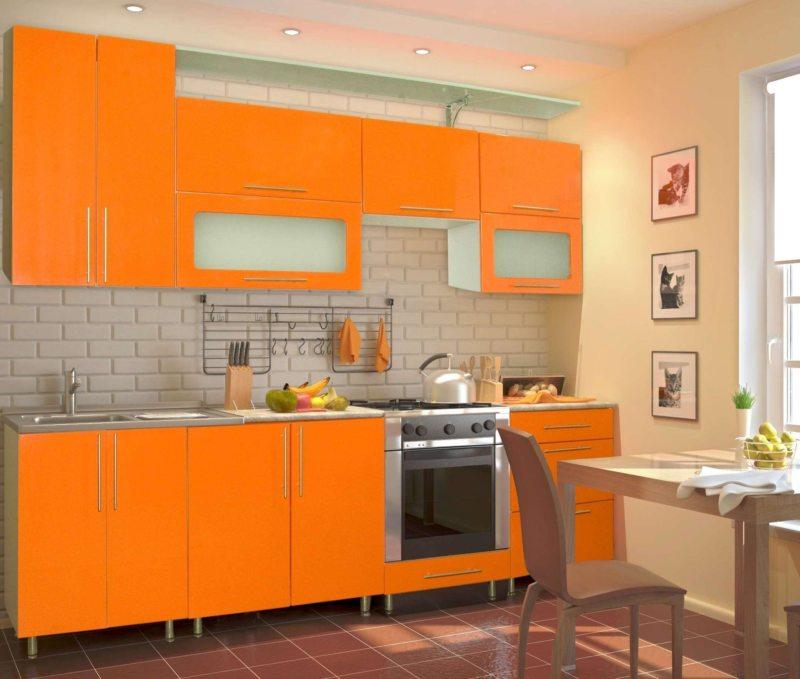 Кухня оранжевого цвета4