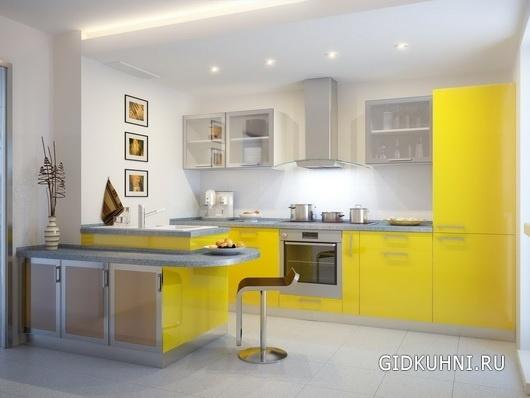 Кухня желтого цвета2
